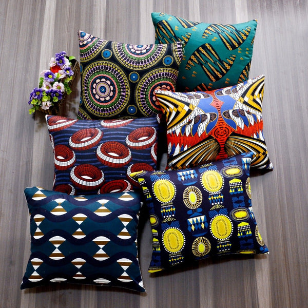 Digital Printed Satin Cushions Assorted 6PCs-Tribal Art