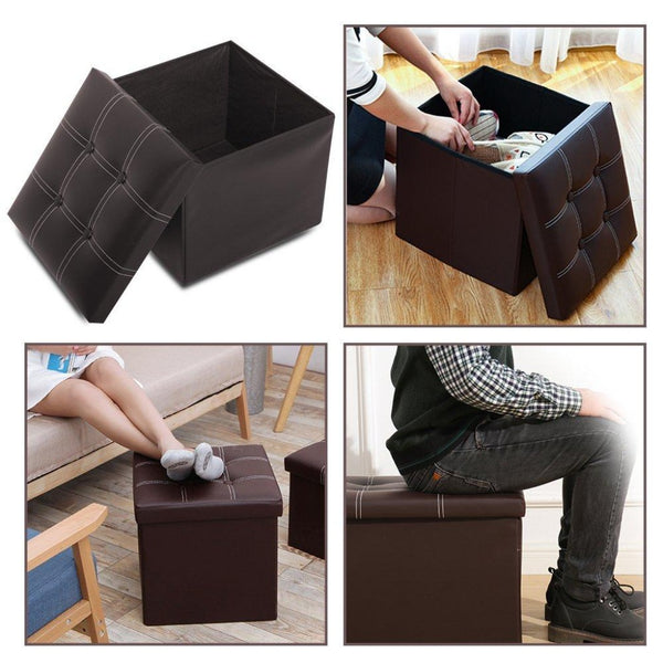 Modular Storage Stool Box (2460)- Black