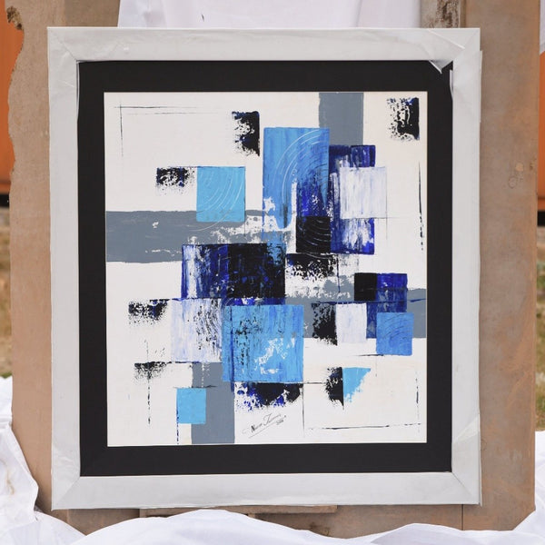 Handmade Abstract Art Painting- Abstract Blue