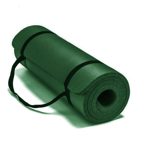 Non-Slip Exercise Fitness Yoga Mat- Olive Green
