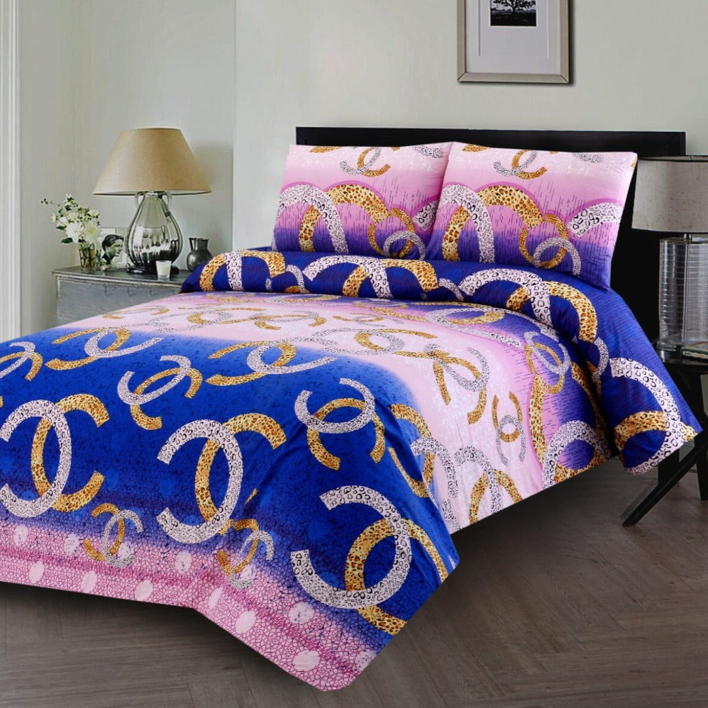 3 PCS BED SHEET-(3333) DB053 Royal