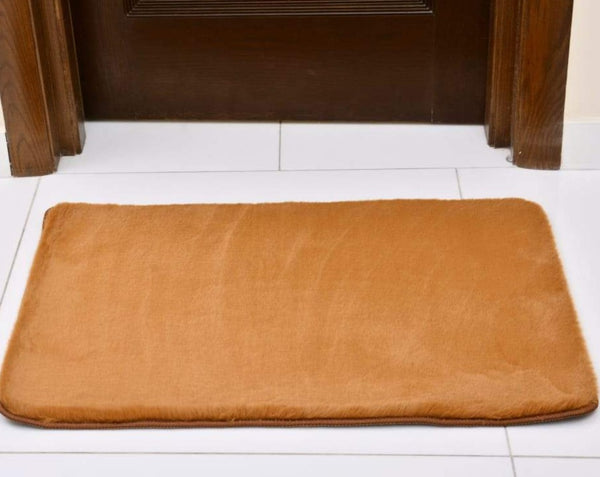 Anti-Skid Fluffy Door Mat 2434 ( 60*90 Cm) - Brown