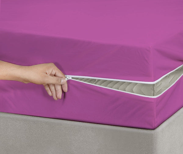 RICH COTTON FITTED SHEET -SHOCKING PINK