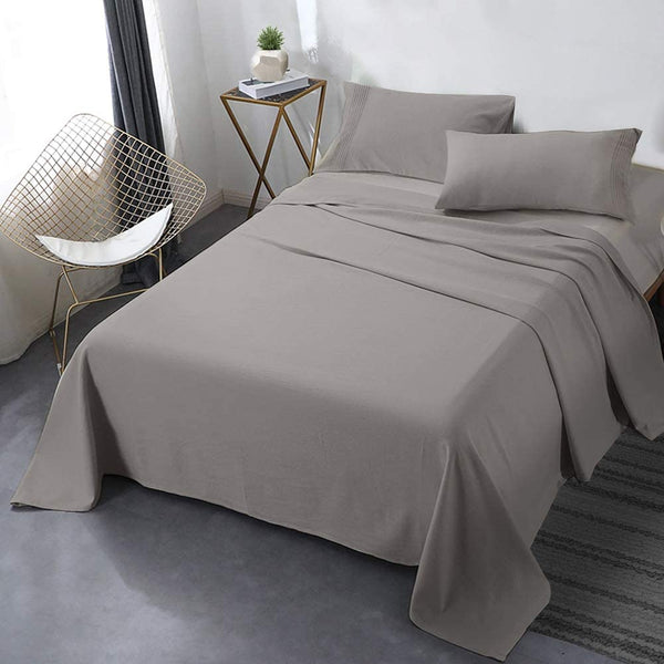 LOUNGE FLEECE BLANKET EMBOSED LINE- GREY