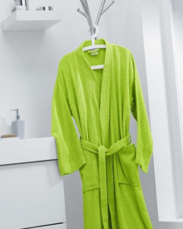 COTTON BATHROBE - GREEN