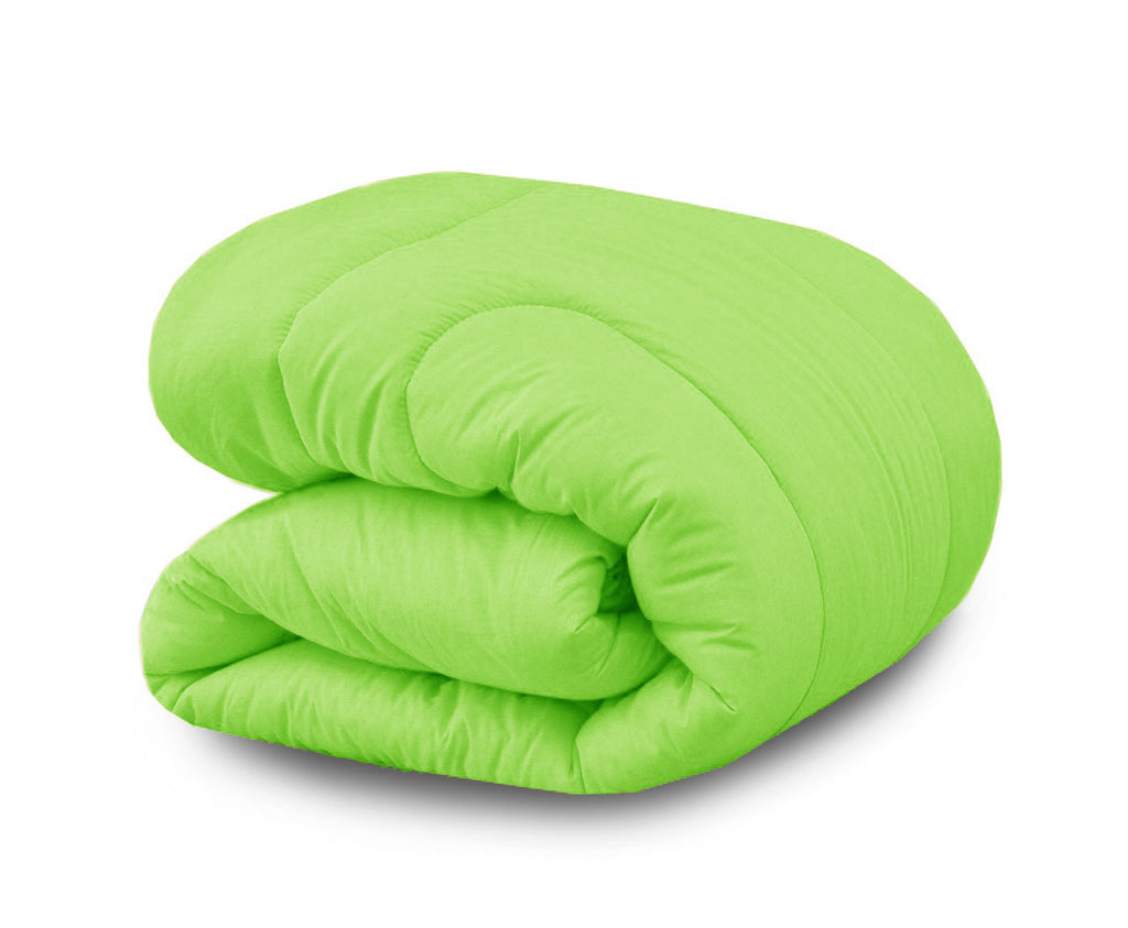 Dyed Single Comforter- Parrot Green