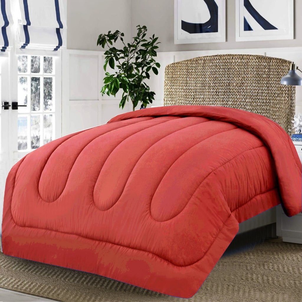 Dyed Double Winter Comforter -Red