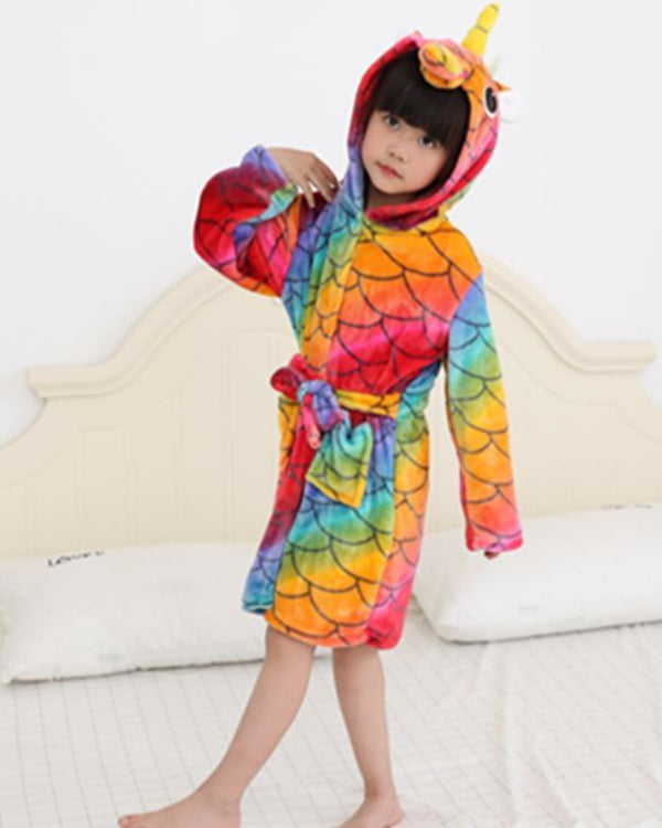 SA-30 Kids Plush Hooded Fleece-Sleep Wears