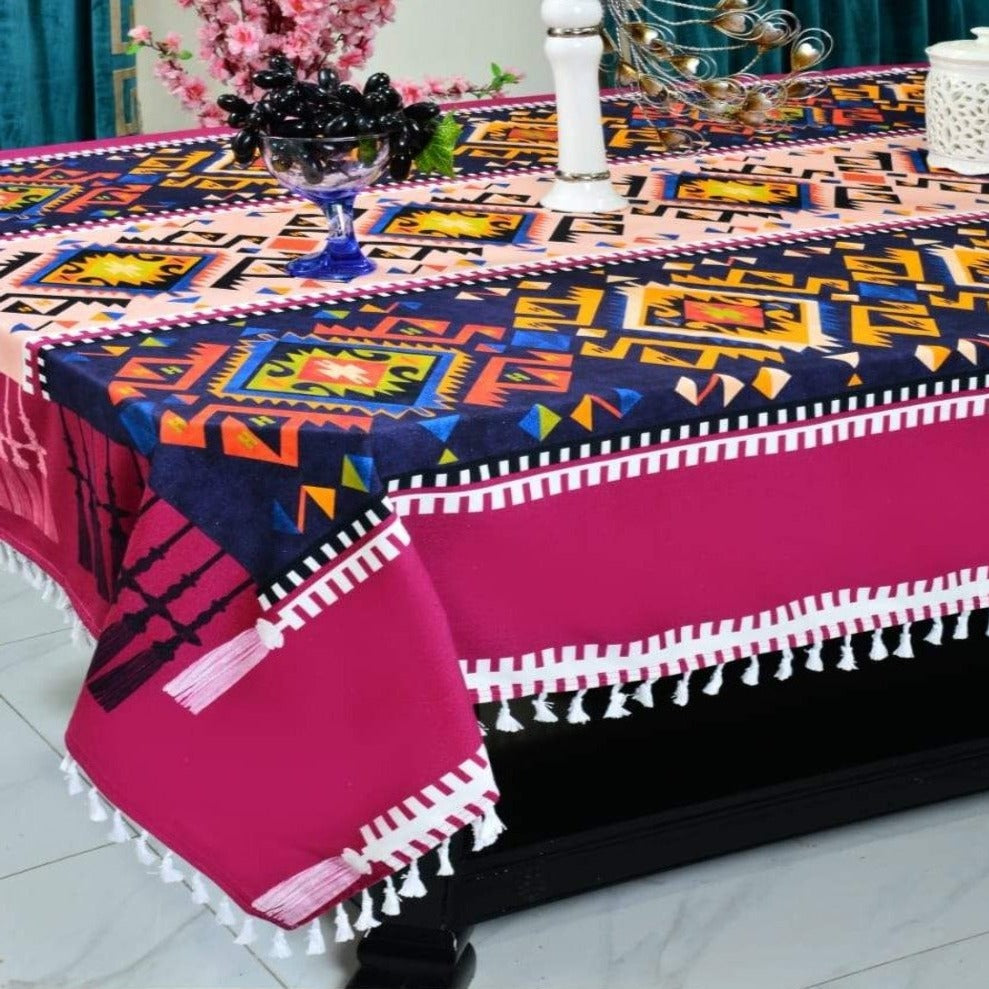 6 & 8 Seater Digital Printed Table Cover-TB18