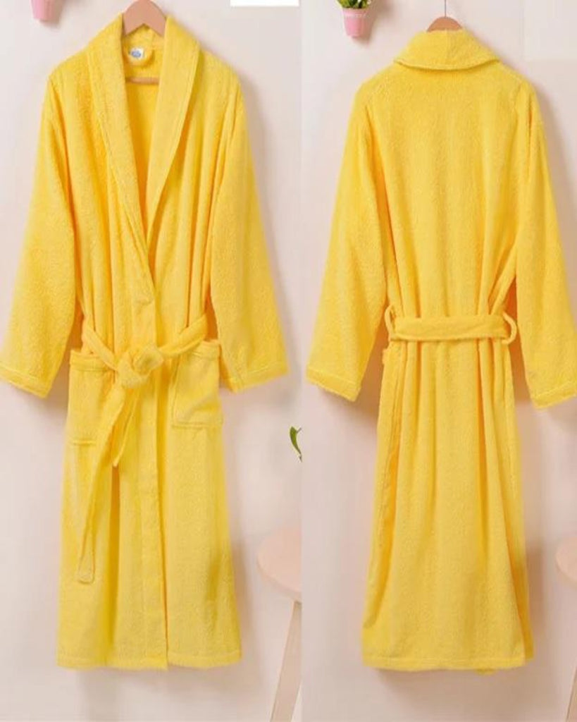 COTTON BATHROBE - YELLOW