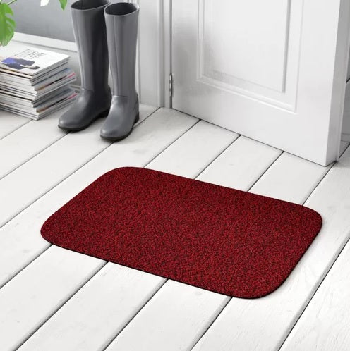 Anti-Skid Shaggy Memory Door Mat 2452 ( 50 x 80 Cm) - Hot Red