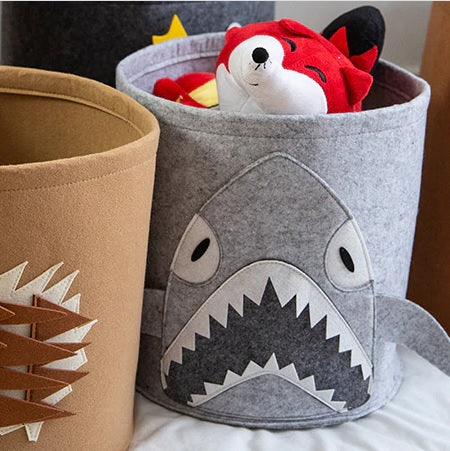 Animal Pattern Toy & Laundry Storage Basket-Whale