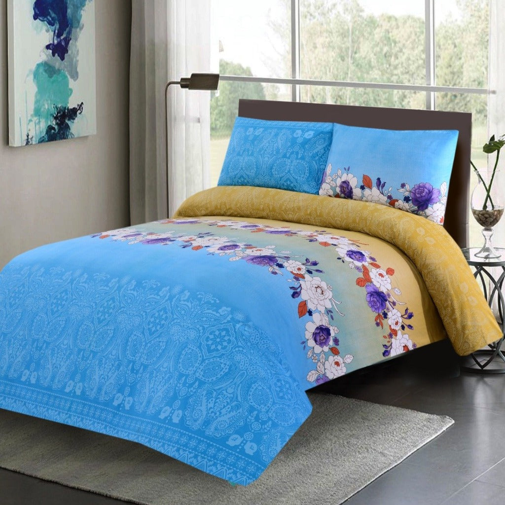 3 PCs Bed Sheet -DB134