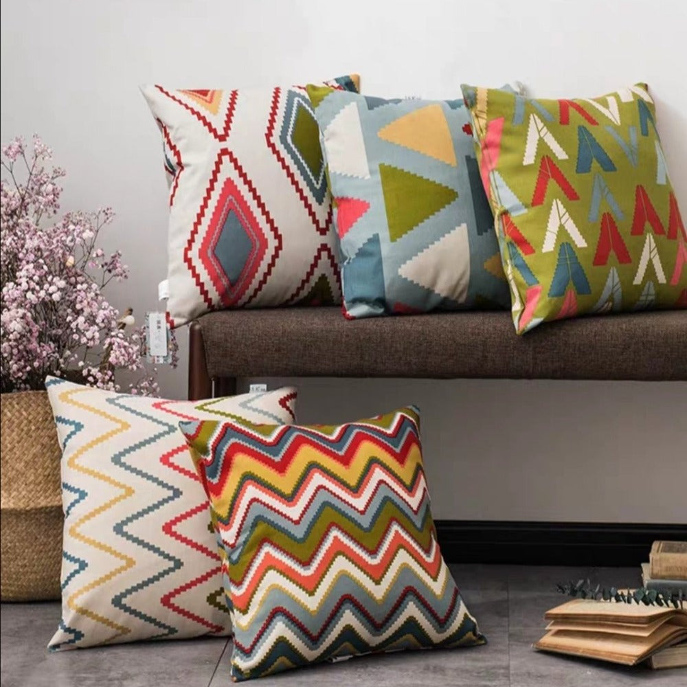 Rays Digital Printed Cushions AssortedSA10-52-Pack Of 5
