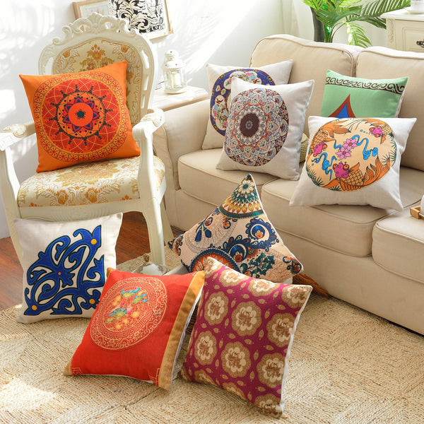 SA10-55 Digital Printed Cushions Assorted- Pack Of 8