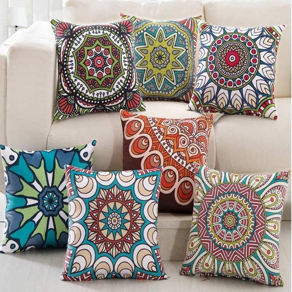 SA-C4 Digital Printed Cushions Assorted - Pack Of 7