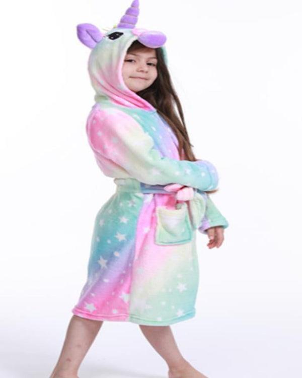 SA-31 Kids Plush Hooded Fleece-Sleep Wears