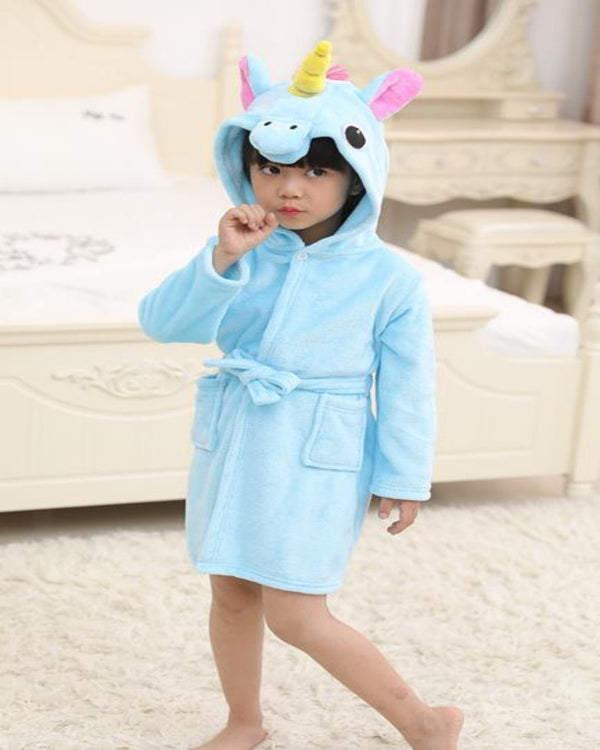 SA-33 Kids Plush Hooded Fleece-Sleep Wears