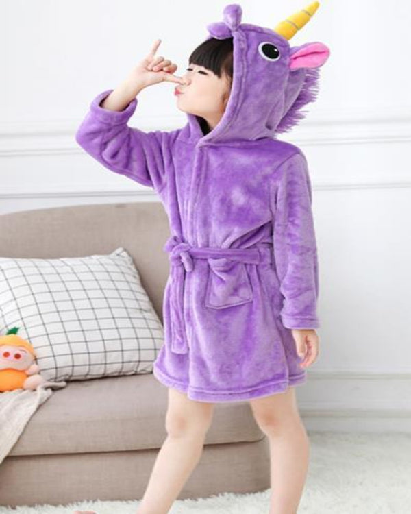 SA-32 Kids Plush Hooded Fleece-Sleep Wears