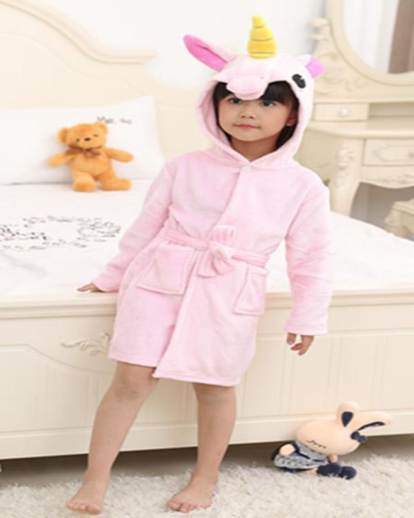 SA-29 Kids Plush Hooded Fleece-Sleep Wears
