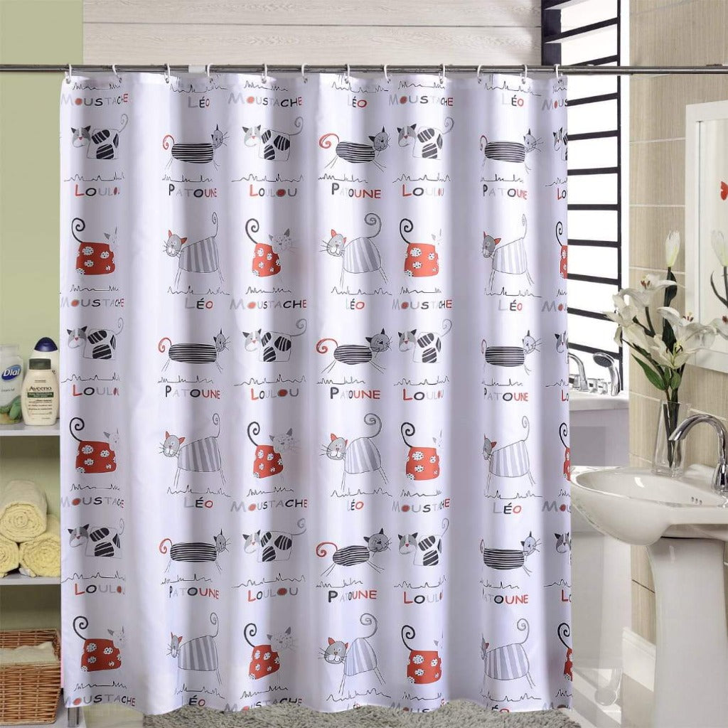 1 PC Water Proof Shower Curtain (3769) -SA-17