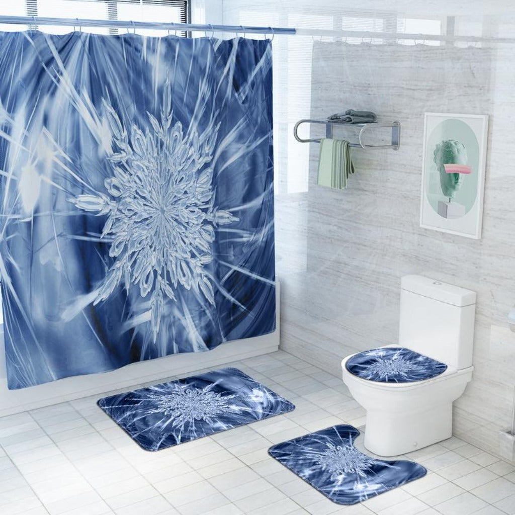 4 PCs Shower Curtain anti slip Mat (3764) set-SA-58