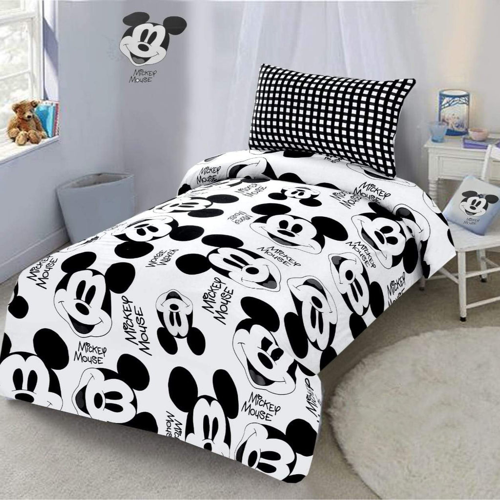 Digital Printed Junior Single Bed Sheet-Mickey Mouse