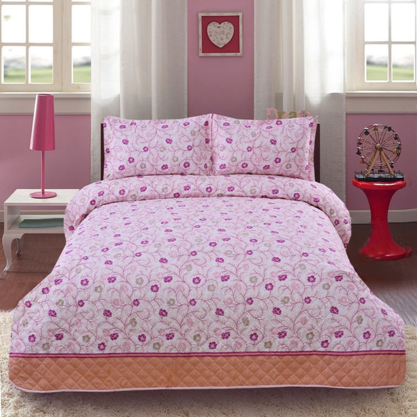 3 PCS BED SPREAD SET - FLORAL