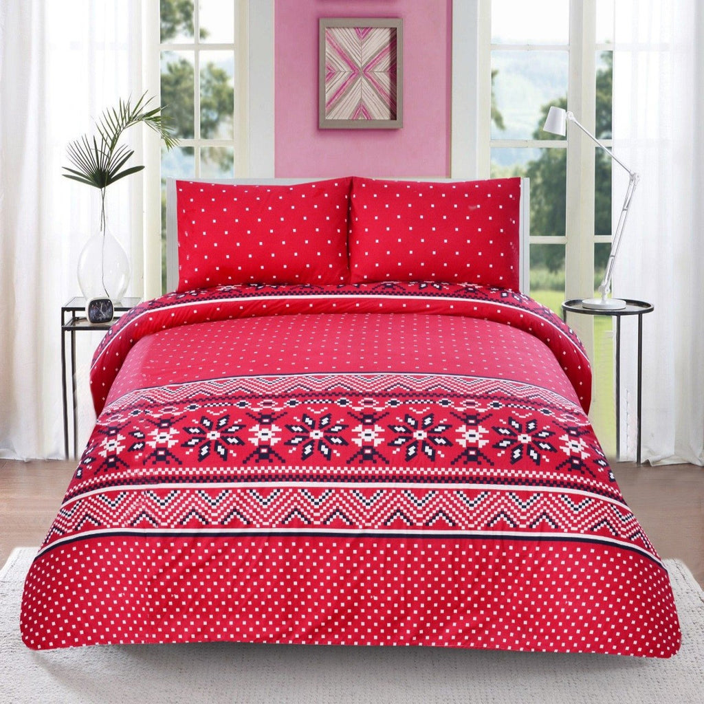3 PCs Queen Quilt Cover-AP0547 Red