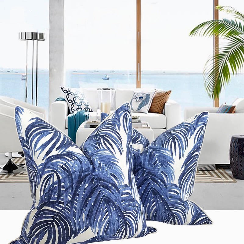 2PCs Digital Printed Satin Cushions Assorted-island