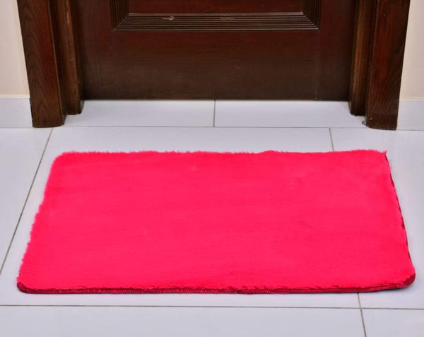 Anti-Skid Fluffy Memory Door Mat 2436 ( 60 x 90 Cm) - Fushia