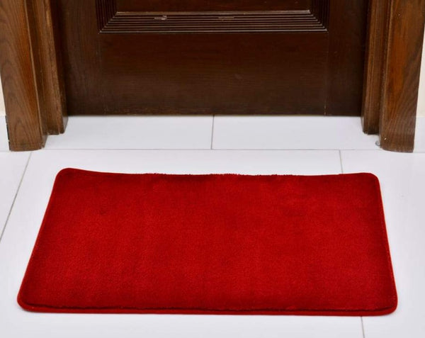 Anti-Skid Fluffy Door Mat 2438 ( 60 x 90 cm ) - Red