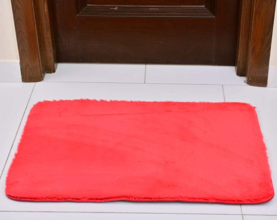 Anti-Skid Fluffy Memory Door Mat 2437 ( 60 x 90 Cm) - Rose Pink