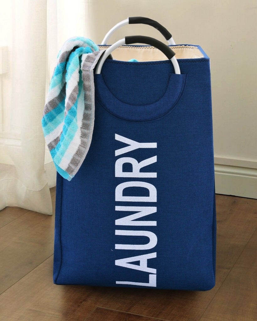 EVA Large Laundry Basket-(2611) Navy blue