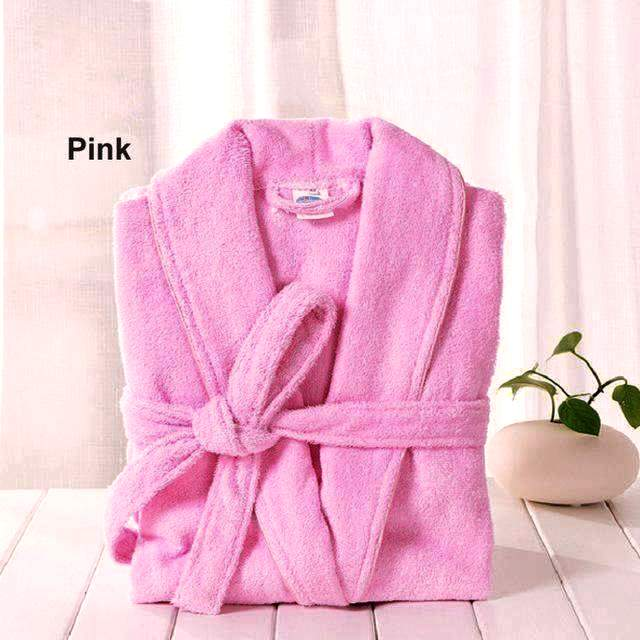COTTON BATHROBE - L/PINK