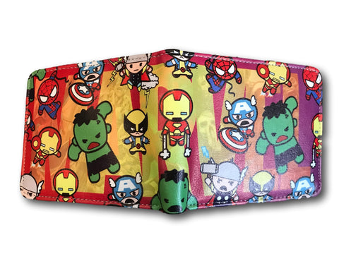 Marvel Avengers Super Hero short Wallet Comic Purse HULK Ironman Spiderman Xmen