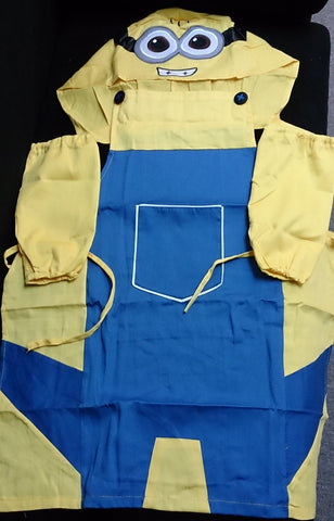 Despicable Me Two Eye Minions Cosplay  Cute Kawaii Apron with Pocket and Hat