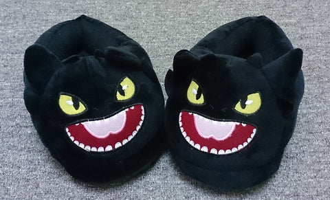 Train Dragon Cute Kawaii Cosplay Adult Plush Rave Shoes Slippers - Night Fury