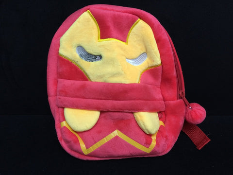 Marvel Ironman Soft Furry Plush School HandBag Backpack Bag Travel Bag