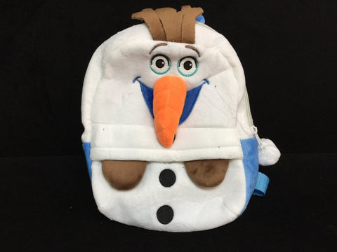 Disney Snowman Forzen Soft Furry Plush School HandBag Backpack Bag Travel Bag
