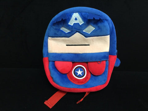 Marvel Avenger Captain America Soft Furry Plush School HandBag Backpack Bag Travel Bag