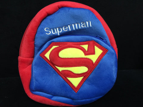 DC Comic Superman Furry Plush HandBag Backpack Bag School Bag Travel Bag