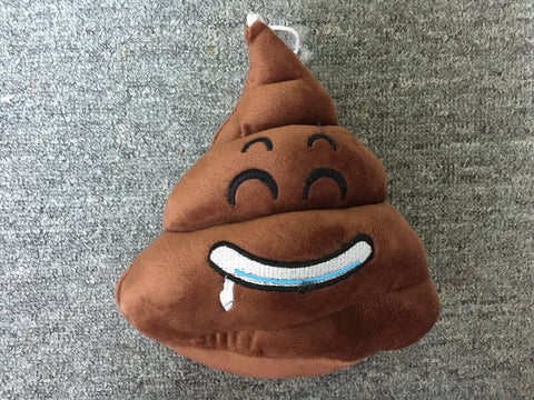 Brown Kawai Cute Feces Soft Plush Furry Stuffed Toy EMOJI Cushion 18cm T2