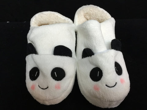 White Black Panda Cute Kawaii Cosplay Adult Plush Rave Shoes Slippers