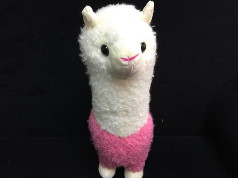 2016 Big Large Alpaca llama Soft Plush Furry beanie Animal Stuffed Toy PINK 35cm