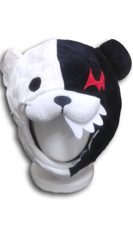 Danganronpa's strange teddy bear Monokuma Beanie Cap Furry Plush Cosplay Hat T2