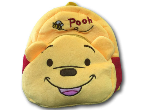 Winnie the Pooh Furry Plush HandBag Backpack Bag School Bag Travel Bag