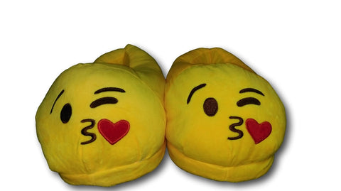 Throwing Kiss Unisex Emoji Plush Home Indoor Pair Slippers Soft Comfy Shoes