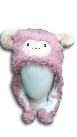 Alpaca Llama Cute Kawaii Anime Hat Rave Beanie Cap Furry Plush Cosplay Hat PINK