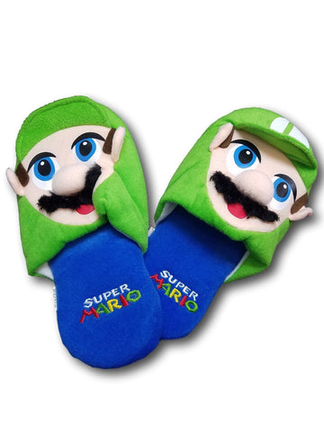 Super Mario Bros. Luigi Cuite Cosplay Adult Plush Rave Shoes Doll Slippers 25cm